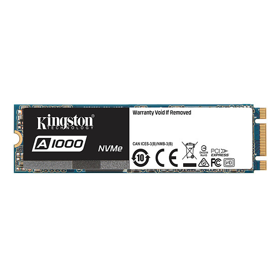 Disque SSD Kingston A1000 M.2 PCIe NVMe - 480 Go