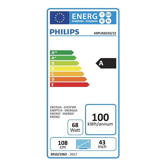 TV Philips 43PUS6523 TV LED UHD 108 cm - Autre vue