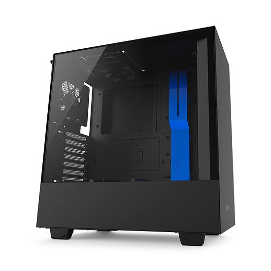 Boîtier PC NZXT H500 - Noir/Bleu