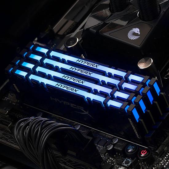 Mémoire HyperX Predator RGB DDR4 4 x 8 Go 3200 MHz CAS 16 - Autre vue