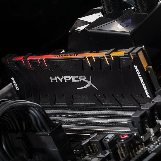 Mémoire HyperX Predator RGB DDR4 4 x 16 Go 3200 MHz CAS 16 - Autre vue