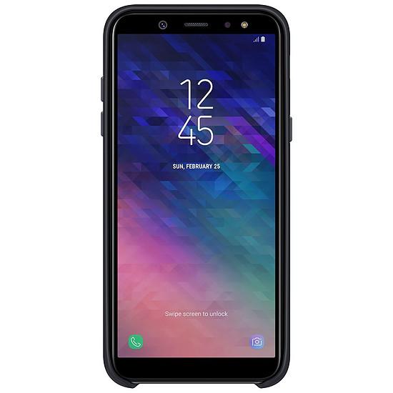 Coque et housse Samsung Coque double (noir) - Galaxy A6
