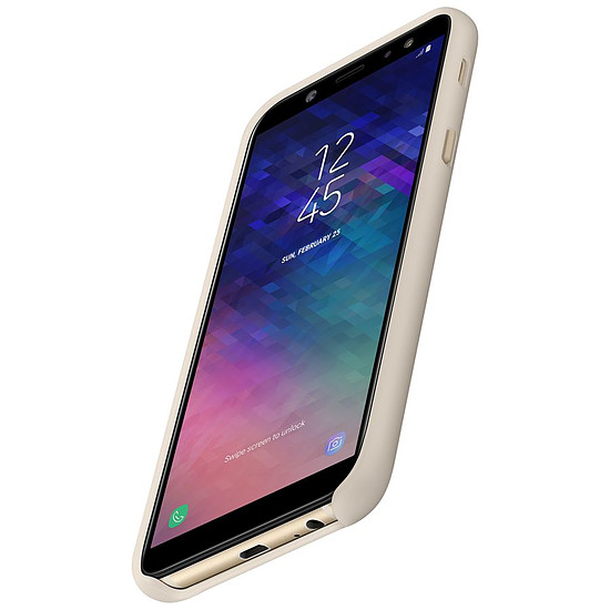 Coque et housse Samsung Coque double (or) - Galaxy A6