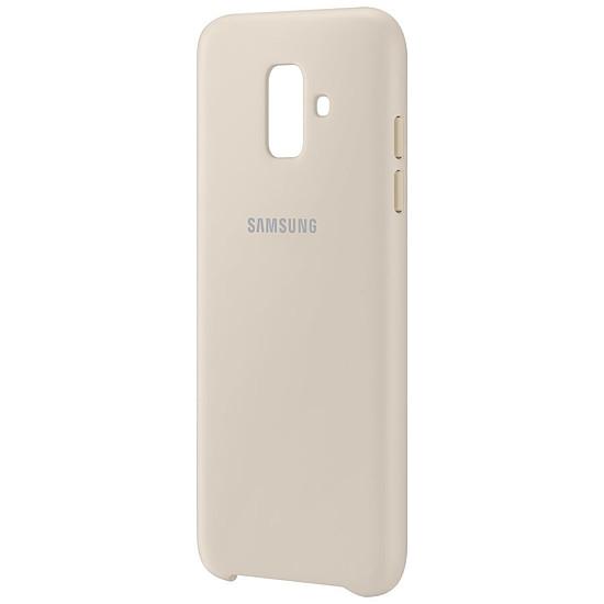 Coque et housse Samsung Coque double (or) - Galaxy A6 - Autre vue