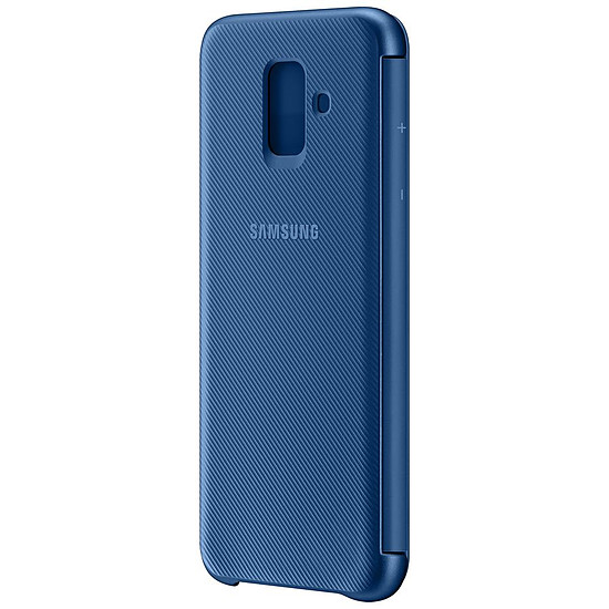 Coque et housse Samsung Flip Wallet (bleu) - Galaxy A6 - Autre vue