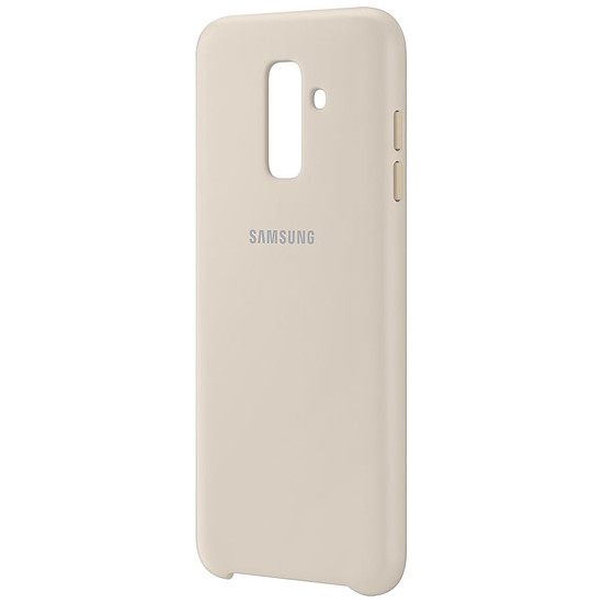 Coque et housse Samsung Coque double (or) - Galaxy A6+