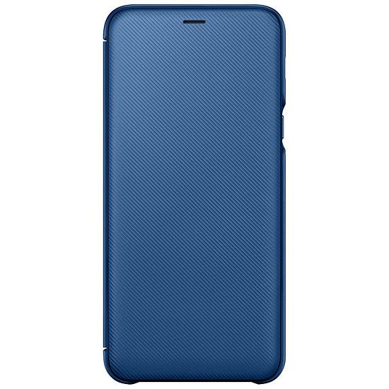 Coque et housse Samsung Flip Wallet (bleu) - Galaxy A6+