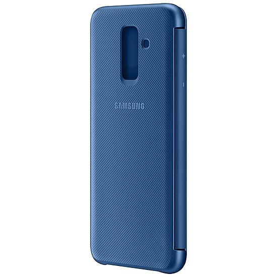 Coque et housse Samsung Flip Wallet (bleu) - Galaxy A6+ - Autre vue