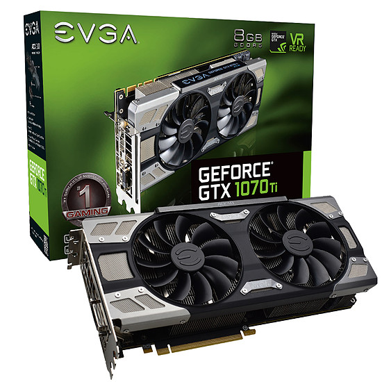 Carte graphique EVGA GeForce GTX 1070 Ti FTW Ultra Silent Gaming - 8 Go