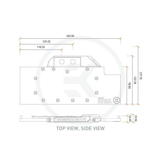 Watercooling EK Water Blocks EK-FC1080 GTX TI - NICKEL - Autre vue