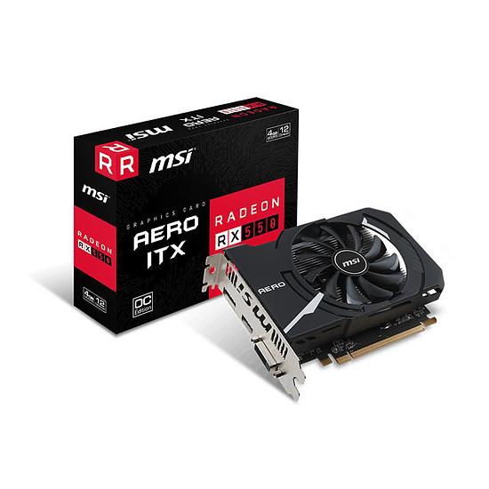 Carte graphique MSI Radeon RX 550 Aero ITX OC - 4 Go