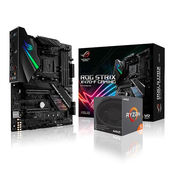 Kit d'évolution PC AMD Ryzen 5 2600X Wraith Spire Edition - Asus ROG Strix X470-F