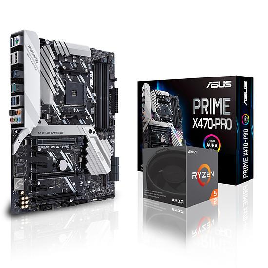Carte mère Asus PRIME X470-PRO + RYZEN 5 2600