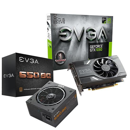 Carte graphique EVGA GeForce GTX 1060 6Go + BQ 650W