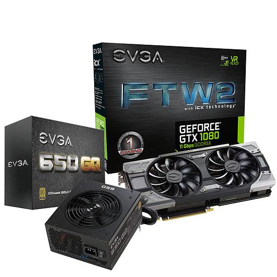 Carte graphique EVGA GeForce GTX 1080 FTW2 Gaming ICX - 8 Go + GQ 650W