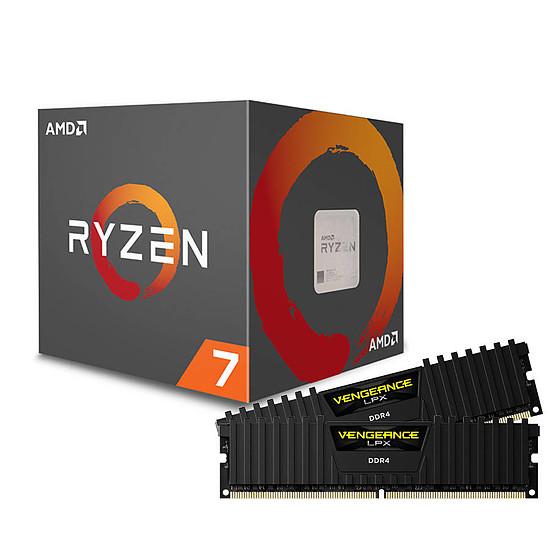 Processeur AMD Ryzen 7 2700X + Corsair Vengeance LPX Black DDR4