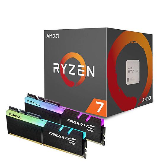 Processeur AMD Ryzen 7 2700X + G.Skill Trident Z RGB DDR4