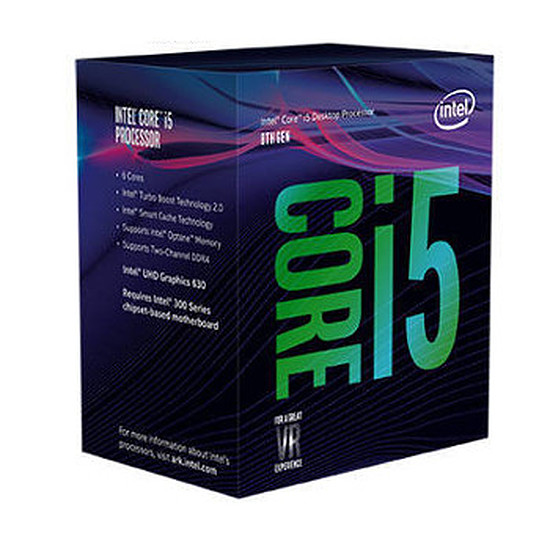 Processeur Intel Core i5+ 8500 (avec Intel Optane 16 Go M.2 NVMe)