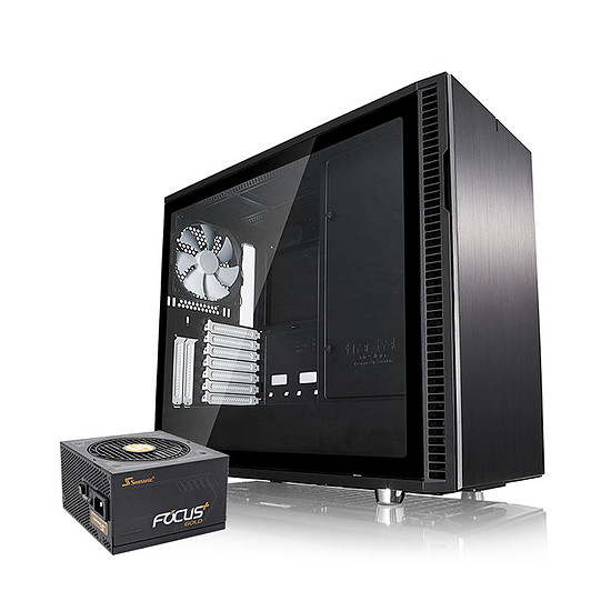 Boîtier PC Fractal Design Define R6 Black TG + Seasonic FOCUS Plus 650 Gold