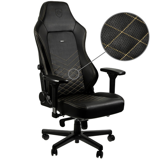 Fauteuil / Siège Gamer Noblechairs HERO - Or - Autre vue