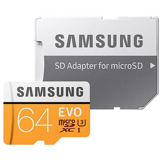 Carte mémoire Samsung Evo SDXC 64 Go (100Mo/s) + adaptateur SD - Autre vue