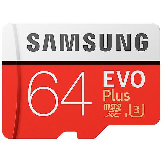 Carte mémoire Samsung Evo Plus SDXC 64 Go (100 Mo/s) + Adaptateur SD