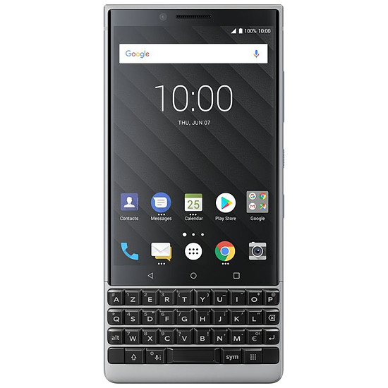 Smartphone et téléphone mobile BlackBerry KEY² (argent) - AZERTY