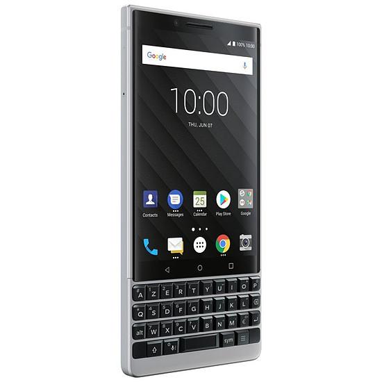Smartphone et téléphone mobile BlackBerry KEY² (argent) - AZERTY - Autre vue
