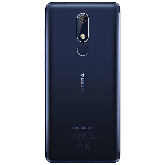 Smartphone et téléphone mobile Nokia 5.1 (TA-1075) (bleu) - 2 Go - 16 Go - Autre vue