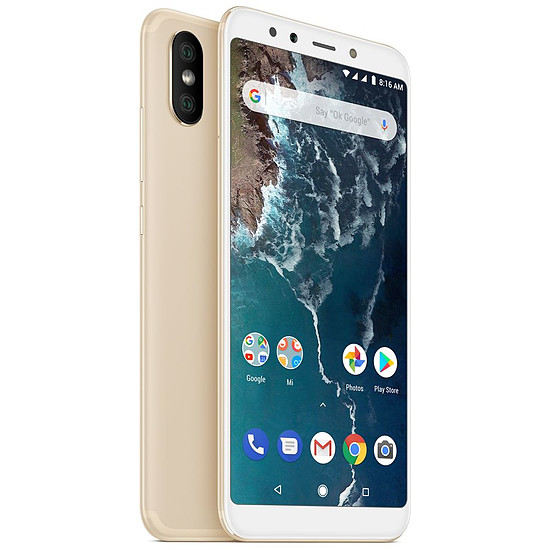 Smartphone et téléphone mobile Xiaomi Mi A2 (or) - 32 Go