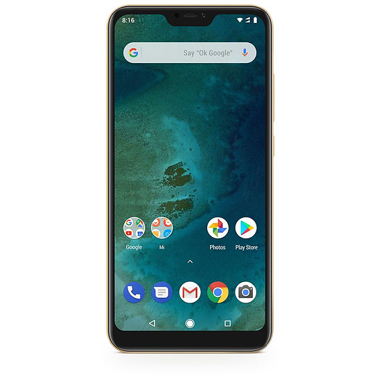Smartphone et téléphone mobile Xiaomi Mi A2 Lite (or) - 64 Go - 4 Go