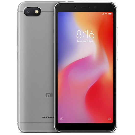Smartphone et téléphone mobile Xiaomi Redmi 6A (gris) - 2 Go - 16 Go