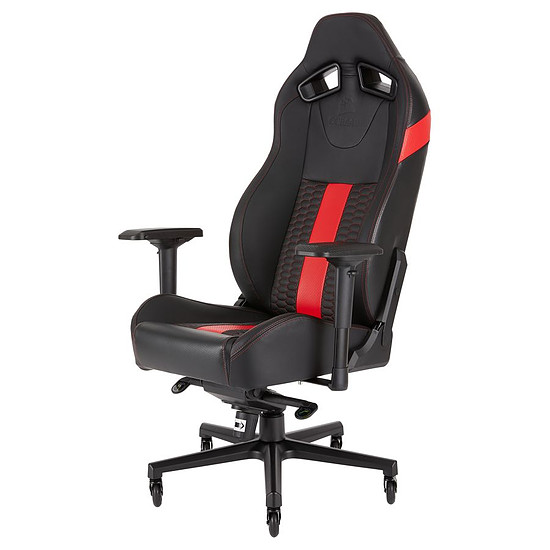 Fauteuil / Siège Gamer Corsair T2 Road Warrior - Rouge + Tapis MM200