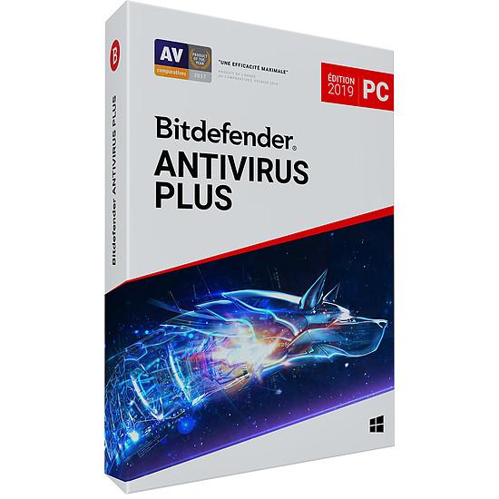 Antivirus et sécurité Bitdefender Antivirus Plus 2019 (2 ans 3 postes)