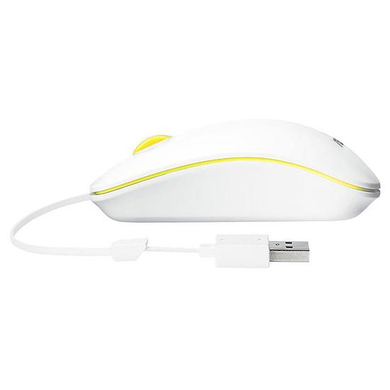 Souris PC Asus UT300 - Blanc/Jaune - Autre vue
