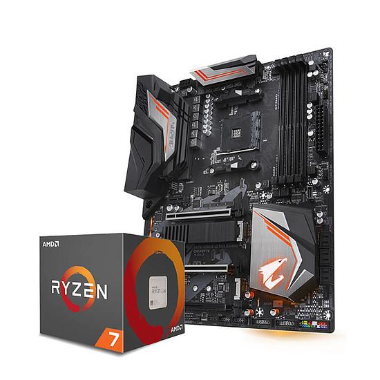 Processeur AMD Ryzen 7 2700X Wraith Prism Cooler (3,7 GHz) + X470 AORUS ULTRA GAMING