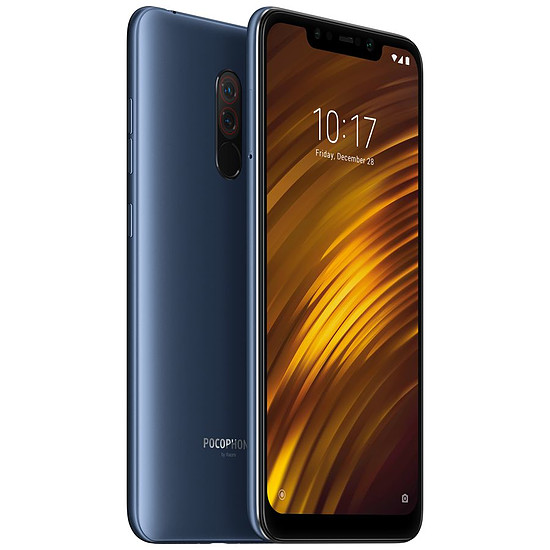 Smartphone et téléphone mobile Xiaomi Pocophone F1 (bleu acier) - 6 Go - 64 Go