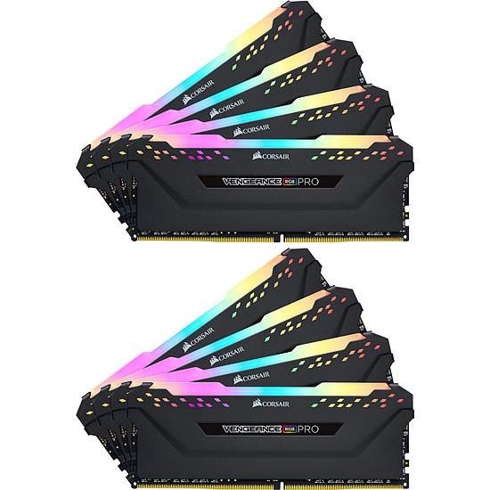 Mémoire Corsair Vengeance RGB Pro - 8 x 32 Go (256 Go) - DDR4 3000 MHz - CL16