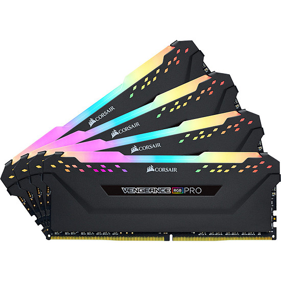 Mémoire Corsair Vengeance RGB Pro - 4 x 16 Go (64 Go) - DDR4 3200 MHz - CL16