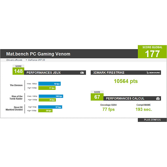 PC de bureau Materiel.net Venom [ Win10 - PC Gamer ] - Autre vue