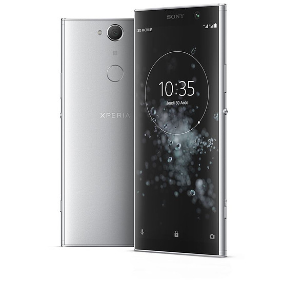 Smartphone et téléphone mobile Sony Xperia XA2 Plus (argent) - 4 Go - 32 Go