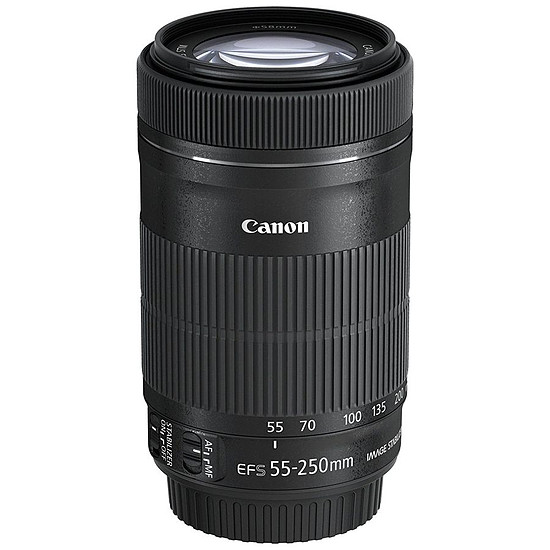 Objectif pour appareil photo Canon EF-S 55-250mm f/4-5.6 IS STM