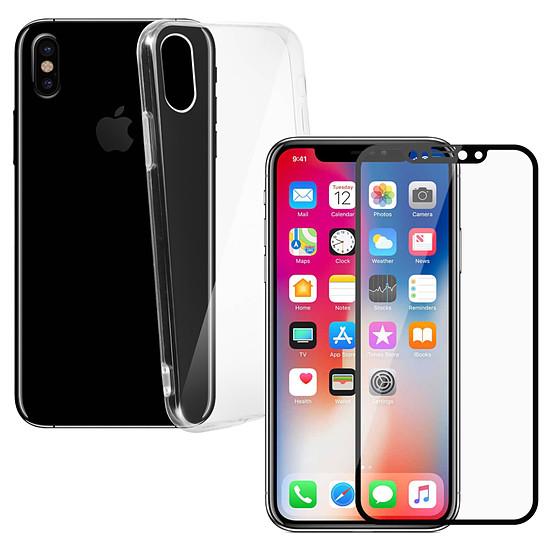 coque iphone xs verre trempe transparent