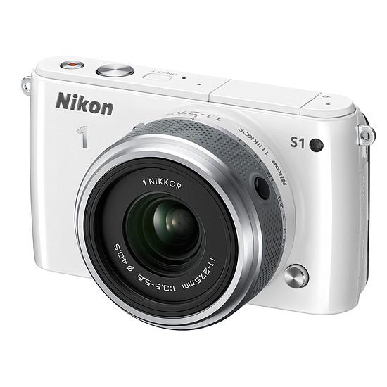Appareil photo Reflex Nikon 1 S1 + 11-27,5 mm Blanc