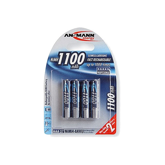 Pile et chargeur Ansmann Piles rechargeables AAA 1100mAh x4