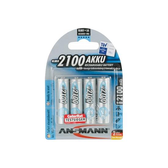 Pile et chargeur Ansmann Piles rechargeables maxE 2100 mAh AA x4