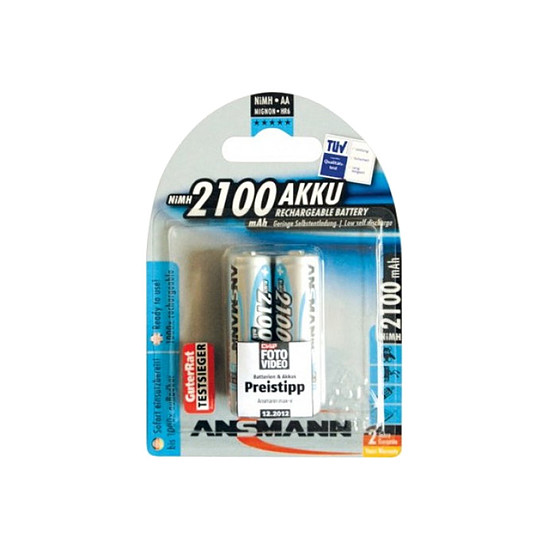 Pile et chargeur Ansmann Piles rechargeables maxE 2100 mAh AA x2