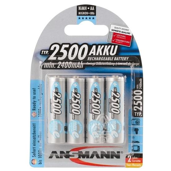 Pile et chargeur Ansmann Piles rechargeables maXe AA 2500mAh x4
