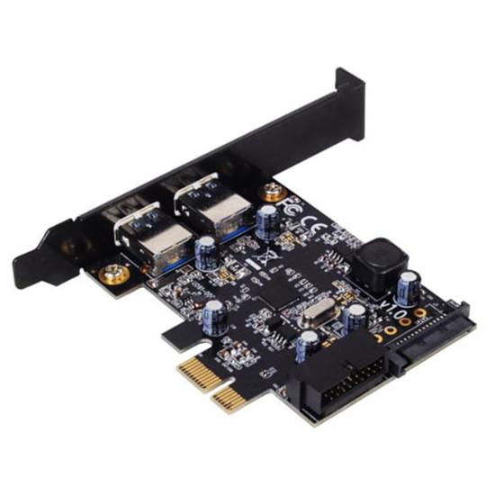 USB Silverstone PCI-Express 1x vers 4 ports USB 3.0 - SST-EC04-E