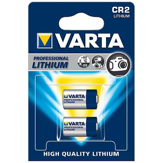 Pile et chargeur Varta Piles Lithium Photo CR2 (par 2)